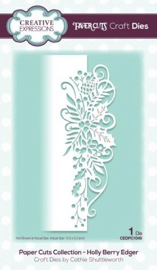 Paper Cuts Collection Holly Berry Edger Craft Die